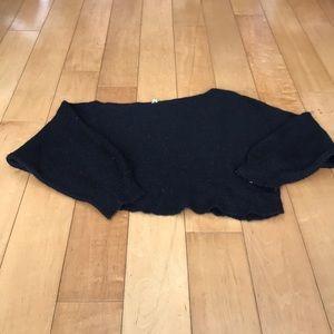 Free People Black Knit Sweater